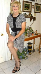 Black n Gray Dress (bobbievnc) Tags: black tv highheels dress legs longhair short tranny blonde pantyhose crossdresser sexylegs nylons tightdress shortdress tanpantyhose pantyhoselegs