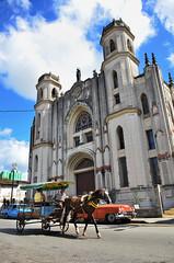 (szintzhen) Tags: sky horse cloud church cuba santaclara cart