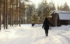 Mom (Faanatar) Tags: family winter white snow black canon finland mom 50mm memories lapland lumi effect talvi snö rate 2014 ljus 500d vit