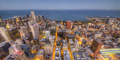 Chicago from Above (www.22NorthPhotography.com) Tags: sunset chicago tower art skyline night print photography evening photo illinois downtown loop sears aerial lakemichigan photograph hdr willis canvaswrap www22northphotographycom 22northphotography