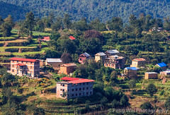 Hillside Village Houses, Nagarkot, Nepal (Feng Wei Photography) Tags: travel nepal house mountain color green tourism nature beautiful beauty horizontal rural relax landscape scenery colorful asia village terrace outdoor relaxing scenic peaceful tranquility np lush tranquil scenics nagarkot terracedfield bagmati