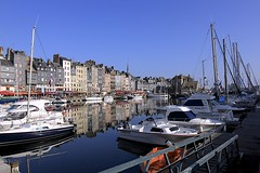 The Vieux Bassin (oxfordblues84) Tags: blue sky france building water architecture sailboat reflections boats europe harbour bluesky honfleur oldport normandy pleasureboat 5photosaday lowernormandy roadscholar honfleurharbour honfleuroldport roadscholartour thevieuxbassin oldporthonfleur