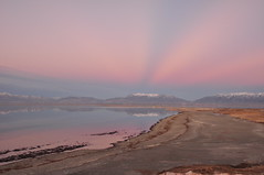 Crepsculo rosa (Great Salt Lake Images) Tags: fall utah twilight antelopeisland greatsaltlake ladyfinger