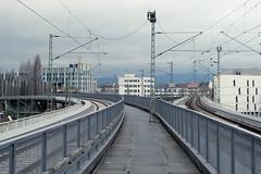 Frankfurt, December 2014 (kristina-zalesskaya) Tags: street city railroad blue winter urban germany fuji frankfurt railway fujifilm urbanlandscape fujifilmxa1