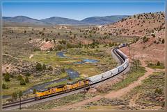 UP 8635, Kyune (UT) 2.6.2014 (VTZK) Tags: up train river utah unitedstates outdoor curves zug unionpacific trein manifest rivier courbes bochten kyune intervorming