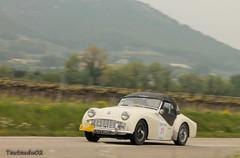 Triumph TR3A 1958 (tautaudu02) Tags: auto cars automobile 2000 tour triumph moto coches voitures optic 2014 tr3