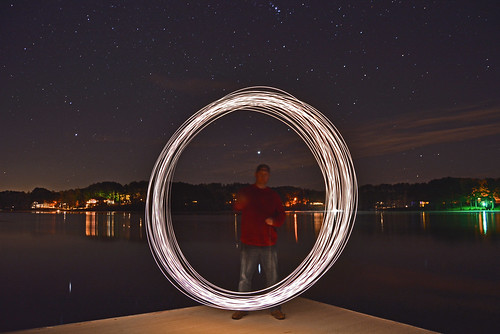 Light Painting with a mini Maglight