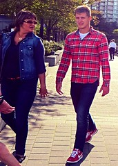 Colours of the Season - 26 (ManontheStreet2day) Tags: boy crotch twink jeans flannel bluejeans bulge