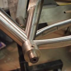 Random build pic from last week. #weavercycleworks #custombicycles #steelisreal