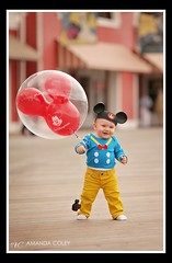Happiest little Donald Duck! (A.C.Photography) Tags: world family vacation kids balloons children mouse photography duck babies disney mickey donald boardwalk walt