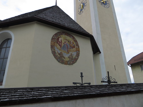 20140905 01 198 Rom Abt Patsch Kirche Turm Uhr Maria Königin Franziskus Antonius