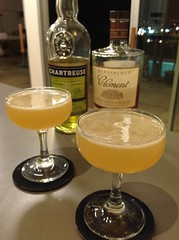 Daisy de Santiago (Charles H Baker Jr) with Clement VSOP rhum agricole, lime juice, yellow Chartreuse, simple syrup (*FrogPrincesse*) Tags: cocktail bartenderschoice rhumagricole bartendersapp yellowchartreuse chartreuse rum lime daiquiri