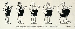De Lach 1928 cartoon wie is dik
