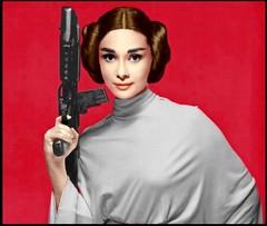 STAR WARS : Audrey Hepburn as Princess Leia (DarkJediKnight) Tags: movie poster starwars audreyhepburn princess humor fake parody spoof leia organa