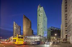 Berlin Potsdamer Platz (david.bank (www.david-bank.com)) Tags: berlin tower germany deutschland twilight skyscrapers dusk sony center potsdamerplatz bluehour kollhoff