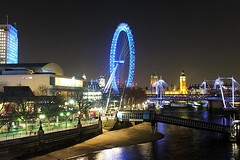 The South Bank @ Night (crashcalloway) Tags: london night londoneye milleniumwheel southbank