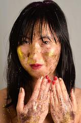Glitter Shower 2 (dodsonphotos) Tags: woman girl glitter studio nude asian shiny sparkle