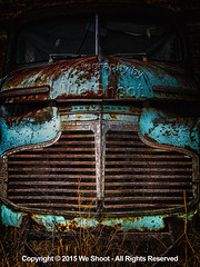 Old Chevy (weeviltwin) Tags: auto cars chevrolet car rust automobile rusty automotive grill faded chevy rusted fade hulk weshootcom