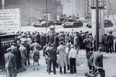 Checkpoint Charlie 1961 _7787 (hkoons) Tags: city berlin germany army war europe crossing russia military capital border police german berlinwall spy conflict drama mitte eastberlin coldwar checkpointcharlie bordercrossing westberlin soviets northerneuropeanplain
