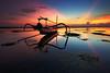Pantai Karang Sanur Bali (KembaraAlam) Tags: longexposure travel bali seascape seaweed beach sunrise canon indonesia landscape boat flickr ray vibrant adventure explore rays sanur sanurbeach pantaisanur pantaikarang karangbeach kembaraalam