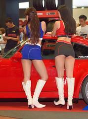 Img436234nx2_conv (veryamateurish) Tags: woman girl leather panties asian model singapore highheels legs boots chinese miniskirt sunteccity singaporean singaporemotorshow