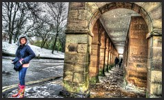 Buxton town centre. (Andrew Kettell) Tags: england snow cold town buxton derbyshire hdr