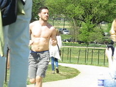 IMG_0098 (FOTOSinDC) Tags: shirtless man hot men muscle candid handsome sweaty sweat runners shorts runner joggers jogger