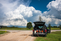 Prepping For Launch (Brandon R. Smith) Tags: storm oklahoma weather clouds dodge sulphur convection ok severeweather bromide geneautry supercell dodgegrandcaravan may9th nationalseverestormslaboratory mobilemesonet