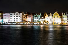 Curaao (Gernot_) Tags: light water skyline night mirror harbor curaao