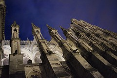 Up (oliko2) Tags: sky building up architecture night cathedral perspective wideangle m reims notredamedereims nikond7100