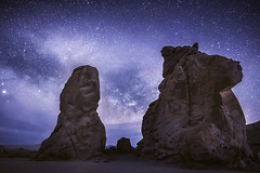 Valley of Fire (Joel Quimpo) Tags: nightphotography valleyoffire clouds stars nevada rockformations