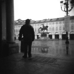 Torino (Valt3r Rav3ra - DEVOted!) Tags: blackandwhite bw 120 6x6 film torino holga lomo lomography toycamera streetphotography ilforddelta400 biancoenero plasticcamera analogico holgacfn urbanvisions medioformato visioniurbane valt3r valterravera