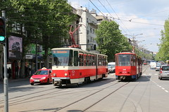 2016-04-26, Beograd, Vukov Spomenik (Fototak) Tags: serbia tram beograd strassenbahn 409 tatra ligne6 396 ligne5 kt4