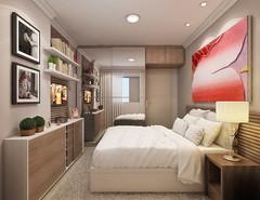 QUARTO (domcio ferreira) Tags: art arquitetura cores design 3d arte interiores decorao quadros projetos telas maquetes