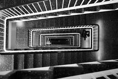 Globus (maekke) Tags: urban bw man architecture stairs switzerland noiretblanc pov perspective streetphotography pointofview fujifilm zrich ch 2016 x100t
