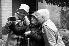 Laughing selfie (L_u_c) Tags: portrait people woman monochrome smile hat outside spain nikon exterior expression femme hats cellphone espana chapeau chapeaux cordoba extrieur espagne sourire personnes rires femmes rire laughs selfie sourires flickrunitedaward nikond7100