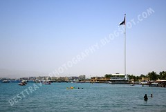 Great Revolt Flag, Aqaba, Jordan (Travel around Spain) Tags: bandera aqaba jordania marrojo orientemedio