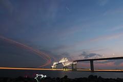 P6260246 (Zengame) Tags: bridge japan architecture night pen tokyo illumination landmark olympus illuminated cc jp creativecommons   zuiko   penf    wakasu   mzuiko  tokyogatebridge 12mmf20 mzuikodigitaled12mmf20  livecomposite