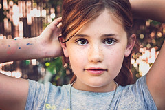 Roxy ((Sarah Robinson)) Tags: portrait girl beautiful childhood youth 50mm necklace eyes hands nikon child arms bokeh d750