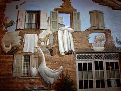 San Giovanni in Persiceto (Bologna): pitture murali di Gino Pellegrini in piazzetta Betlemme (Valerio_D) Tags: italy italia emilia 1001nights emiliaromagna sangiovanniinpersiceto ginopellegrini 20152016inverno