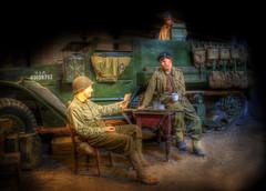 Half Track Chat (nigdawphotography) Tags: museum army us display ww2 duxford halftrack landwarfare