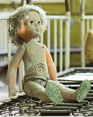 59 - Chernobyl Kindergarten Lone Doll (Craig Hannah) Tags: children doll beds decay ukraine disaster disused kindergarten 1986 derelict restricted zone chernobyl 2016 exclusionzone restrictedzone hazardousarea zoneofalienation 30kilometrezone radioactivecontamination craighannah