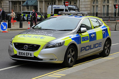 Metropolitan Police Volvo V40 ANPR Interceptor Area Car (PFB-999) Tags: colour london car volvo police area vehicle leds service met metropolitan grilles hatchback interceptor unit the mps 2016 lightbar v40 trooping anpr bx14vfa