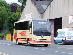 Andrews FJ15EJC Matlock (Guy Arab UF) Tags: bus buses mercedes benz coach andrews derbyshire independent tideswell depot cheetah passing xl matlock atego plaxton 1218l fj15ejc