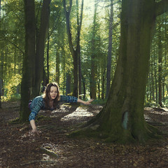 Levitating in the woods (Anna_L.) Tags: forest flying woods magic floating levitation mystical ogden levitating levitate
