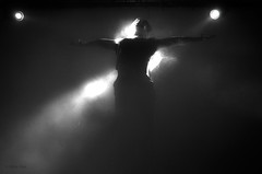 . (Nikita Rise) Tags: white black lights mask smoke clown e horror bianco nero