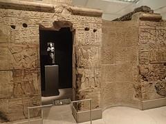 Another view of the Shrine of the 25th dynasty pharaoh and Kushite King Taharqa  Egypt 7th century BCE (mharrsch) Tags: architecture temple worship shrine god unitedkingdom religion goddess egypt oxford 7thcenturybce myth basrelief ashmoleanmuseum taharqa lateperiod 25thdynasty mharrsch