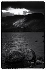 20160717 (RenaldasUK) Tags: canon canon6d lakedistrict keswick landscape bw blackandwhite cumbria england millenniumstone centenarystone derwentwater