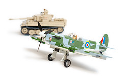 Aircraft, Welcome to the COBI Small Army WWII Range (Adam Purves (S3ISOR)) Tags: cobi smallarmy ww2 wwii worldwar2 worldwarii spitfire supermarine 5512 tiger tiger1 2477 panzer panzerkampfwagen brick block lego military german british aircraft plane aeroplane dogfight fighter