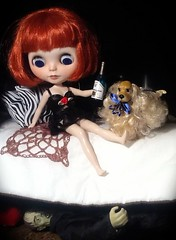 Blythe-a-Day Oct#29: Monsters Under the Bed: Clara Bow & The Lurking Creeper